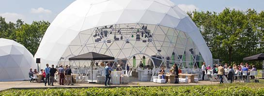 tente dome evenements