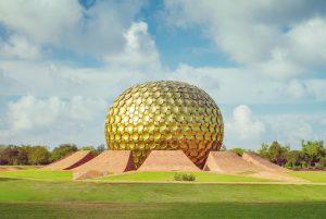 Famous Geodomes | Matrimandir Golden Temple