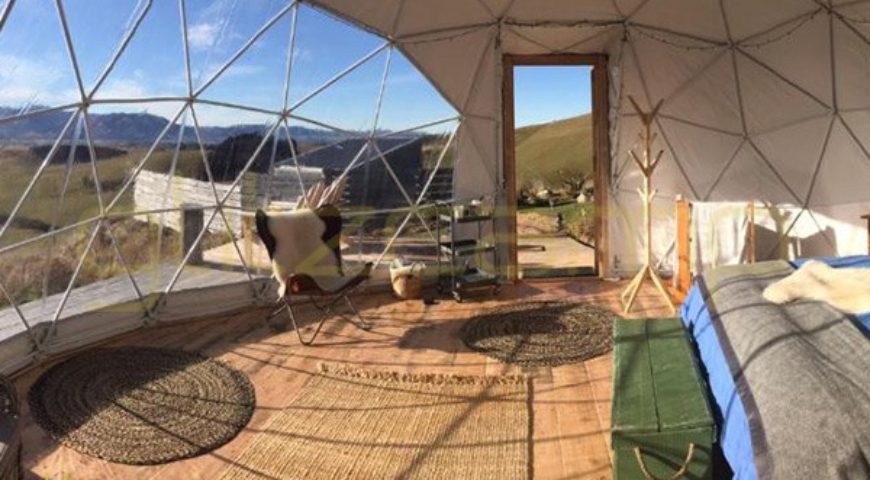 tente dome glamping vacances