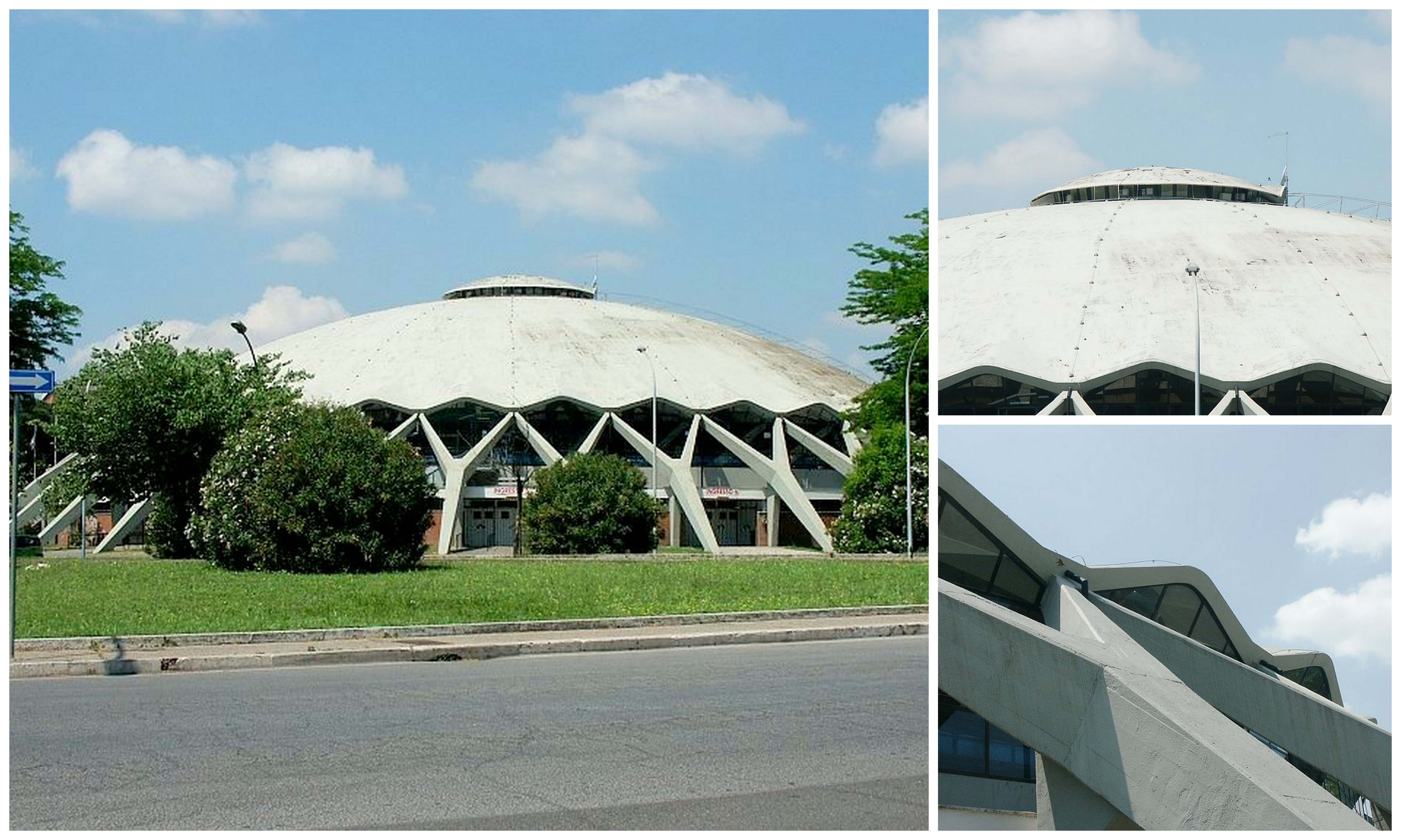 50 Geodesic Domes Around the World | Palazzetto Dello Sport