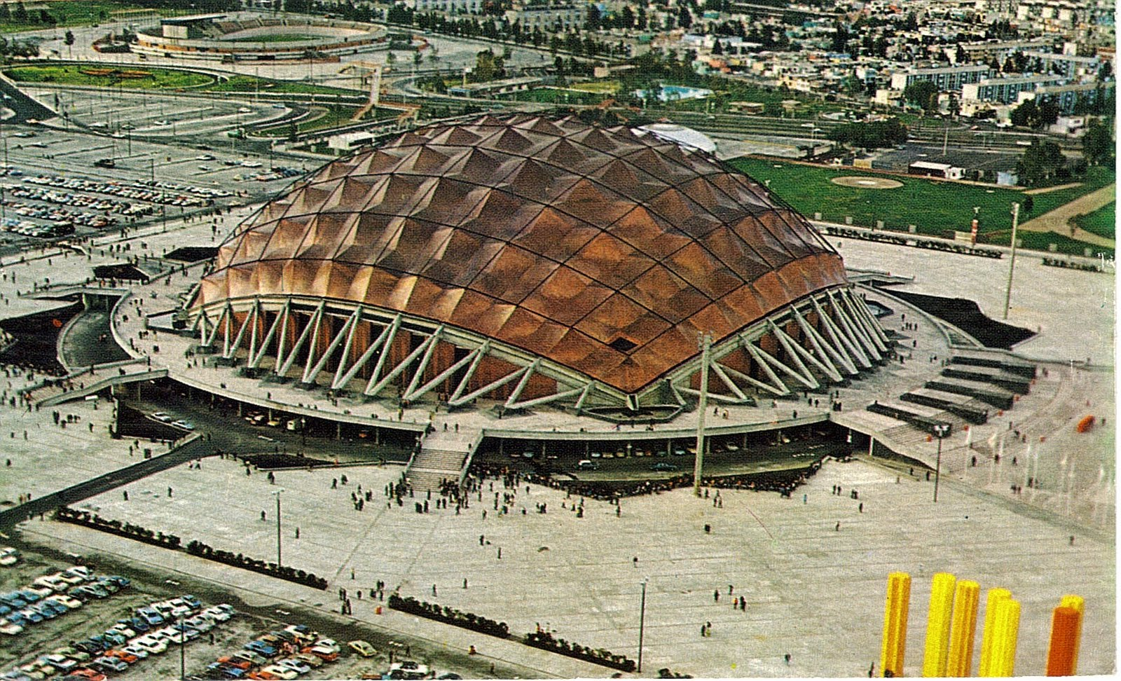 50 Geodesic Domes Around the World | Palacio de los Deportes, Mexico