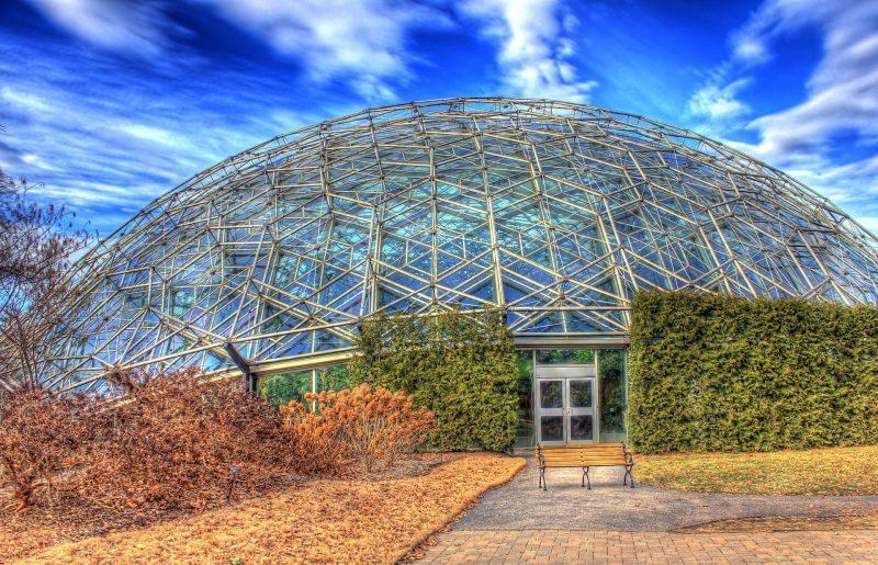 30 Dômes Géodésiques Incroyables - Climatron au jardin botanique du Missouri