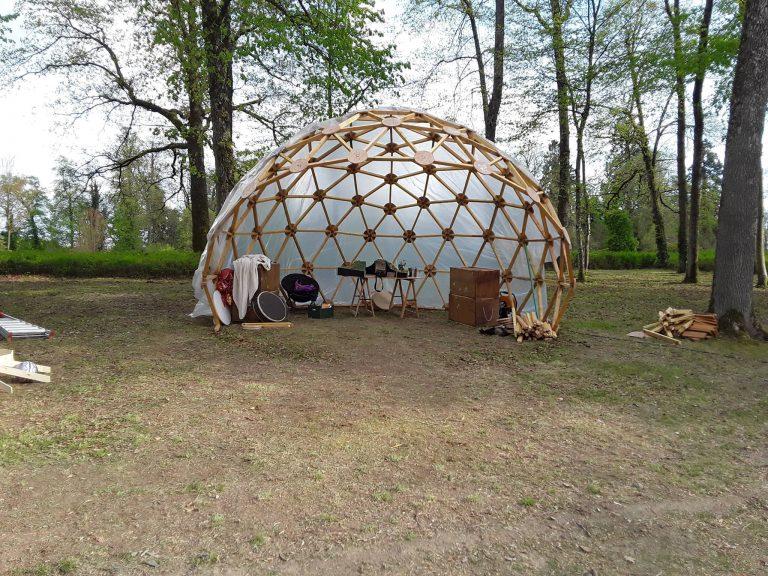 dome geodesique couverture