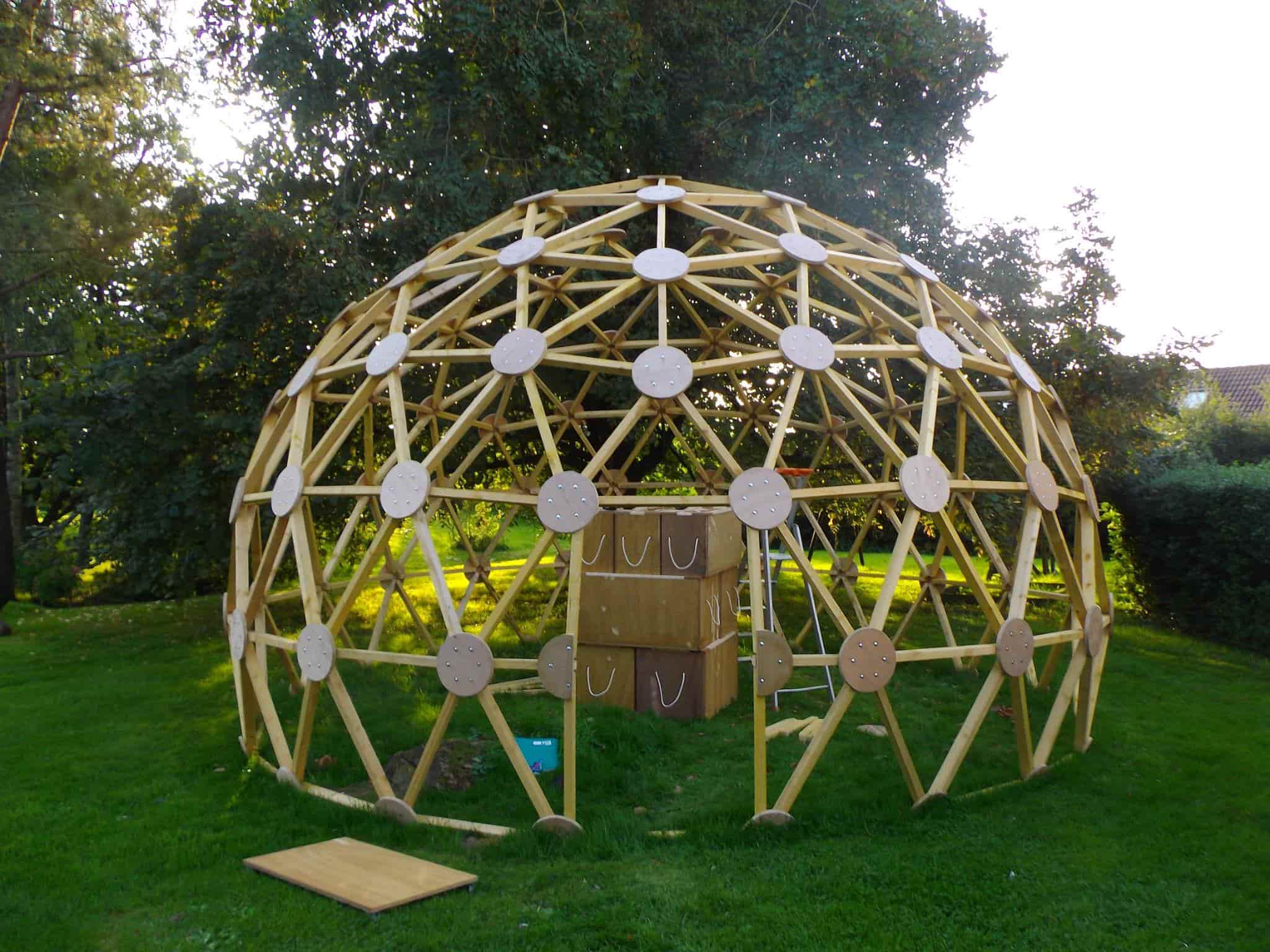 dome geodesique fabrication
