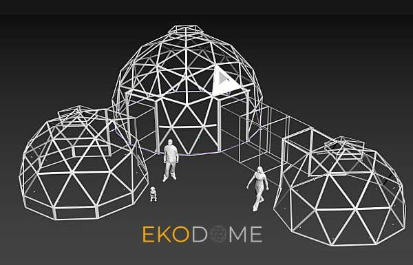 Kit Dôme Géodésique DIY Ekodome – Super Facile, à Prix Réduit