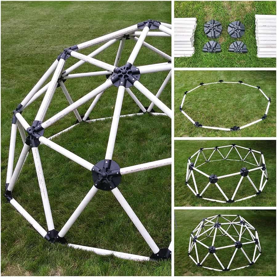 Fréquence naturelle Kit de connexion de moyeu de dôme géodésique pour tuyau PVC